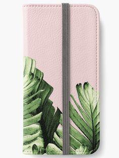 """Blush Banana Leaves Dream #1 #tropical #decor #art"" iPhone Wallets by anitabellajantz   Redbubble"