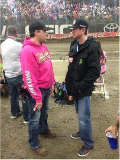 Tony & Kurt Busch, Chilibowl nationals... Jan.2015