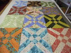 12 Quilt Blocks each one different  9 1/2 x 9 1/2 by debbie1567, $15.00