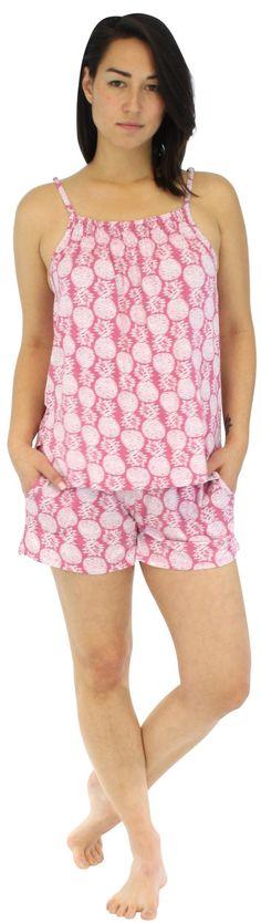2d6bfa049934fb Pajama Heaven Women s Bamboo Jersey Adjustable Tank Top and Shorts Set