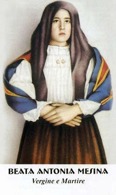 Bl. Antonia Mesina, Roman Catholic Martyr, she was murdered by a teenager when she resisted his rape attempt, Patron of martyrs; rape victims, Feast May 17