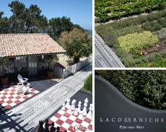 Carocim.  A compostion of Carocim tiles created by Philippe Starck at La Co(o)rniche Hotel,Arcachon in France.