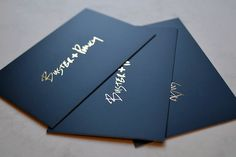 Gorgeous Gold Foil applied to matt laminated card for a classic sophisticated look for a luxury business card