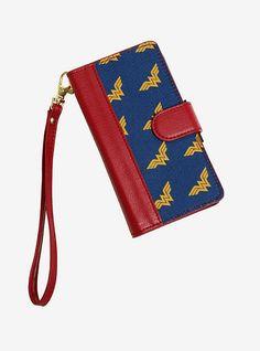 DC Comics Wonder Woman Gold Print Universal Phone Case Wallet - BoxLunch Exclusive,