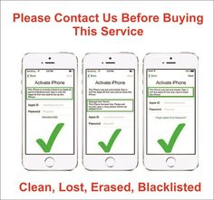 Icloud Unlock / Removal service. iPhone 4S, 5, 5S, 5C, 6, 6+, 6S, 6S+, 7, 7+ (Clean, Lost, Erased, Blacklisted)
