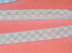 Baby Blue Gingham Bias Tape Single Fold 1/2 inch wide