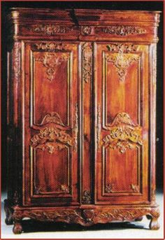 1900-1950 2019 New Style Tiger Quartersawn Oak Country French Provincial 2 Door Armoire Wardrobe Cabinet Soft And Light