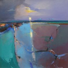Moonrise Over Sky by Peter Wileman