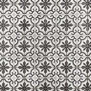 Equilibrio Black Encaustic Cement Tile - 8 x 8 - 100517424 Moroccan Tiles Kitchen, Kitchen Tiles, Decorative Tile Backsplash, Parts Of Stairs, Floor Decor, Porcelain Ceramics, Timeless Classic, Hand Coloring, Cement