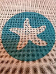 Starfish Christmas Handpainted Needlepoint by NeedlepointbySharese | Etsy $28.