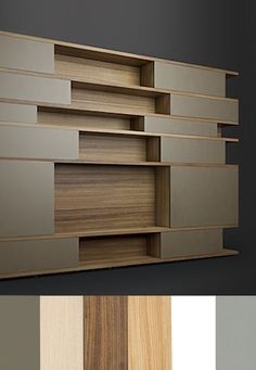 Farbschemata - Designerregal vom Tischler A Shelf, Shelves, Vertical Or Horizontal, Shelf Design, Open Shelving, Designer, Bookcase, Ideas, Home Decor