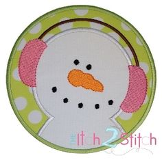 Snowman Circle Applique - 3 Sizes! | Winter | Machine Embroidery Designs | SWAKembroidery.com The Itch 2 Stitch