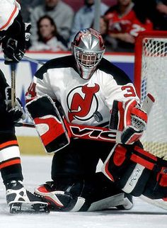 New Jersey Devils goaltending history : John Vanbiesbrouck Nhl Hockey Teams, Hockey Goalie, Ice Hockey, Martin Brodeur, East Rutherford, Nhl News, Nhl Players, New Jersey Devils, Washington Nationals