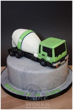 Cement Truck Cake
