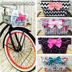 ACCEPTING PREORDERS #MADEINTHEUSA Contact #torcanoindustries 1855 359 3339 ~ Via @freeridebikeco Add flair to your bike with a handmade bike basket liner.  Each basket liner features a nice zipper pocket to store your phone, cash, keys ect. All drawing down into a cute Hobo Bag Tote with darling bow accents on the front and the back of each basket liner. Made easy to grab and go with no worries of leaving your things behind!Becomes a super cute and functional Hobo Bag Tote. Ask us for…