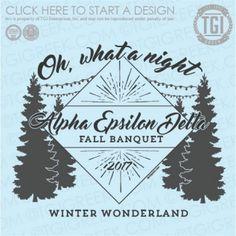 Alpha Epsilon Delta | AEΔ | Fall Banquet | Winter Wonderland | TGI Greek | Greek Apparel | Custom Apparel | Fraternity Tee Shirts | Fraternity T-shirts | Custom T-Shirts