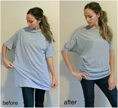 figure out how to do this to an oversize t-shirt