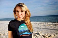 Green Parks T-shirt made from 100% organic cotton  #organic #ecofriendly #beach #model #fashionblog #green #recycle #environment #californiagood #california