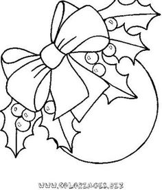 dibujos de coronas de navidad para pintar - Buscar con Google