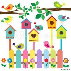 Collection of cartoon birds Clipart Kids Crafts, Preschool Crafts, Diy And Crafts, Arts And Crafts, Paper Crafts, Decoration Creche, Class Decoration, School Decorations, Cartoon Birds