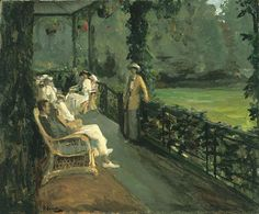 """The Verandah"" by Sir John Lavery"