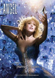 Naomi Watts for Thierry Mugler Angel Fragrance Perfume Diesel, Best Perfume, Angel Parfum, Angel Fragrance, Fragrance Parfum, Naomi Watts, Thierry Mugler, 90s Fashion, Up Dos