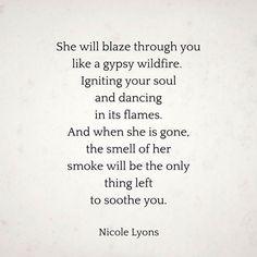she will blaze through you...
