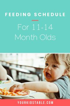 11, 12, and 13 months plus can be a difficult time to determine a feeding schedule. Get sample schedules for 1 year olds from a feeding expert and mom #feedingkids #kids #feedingschedule 11 Month Old Food, 11 Month Old Schedule, 11 Month Old Baby, Nursing Schedule, Baby Food Schedule, Baby Feeding Schedule, Feeding Baby Solids, Solids For Baby, Infant Activities