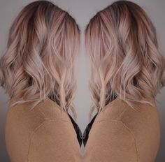Rose Gold Hair Color by Jackie  #wexford #balayage #cranberry #haircolor #mars #hairsalon #pittsburgh #haircut #gibsonia #hairpainting #sewickley #hair #allisonpark #salon #zelienople #color #warrendale  #wexfordhaircolor #wexfordbalayage #wexfordhairsalon #pittsburghhaircolor #pittsburghbalayage #pittsburghhairsalon #hairbrained #behindthechair #americansalon #modernsalon