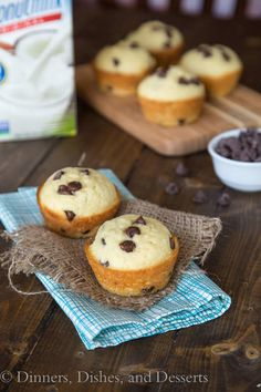 Coconut Chocolate Chip Muffins - freeze well, and make great breakfasts or snacks
