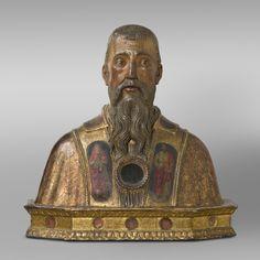 Reliquary Bust of Saint Benedict of Nursia. Late 15th century. Philadelphia Museum of Art.