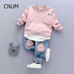 Cheap children set, Buy Quality kids clothing set directly from China set winter Suppliers: CNUM Autumn Kids Clothing Sets Children's Wear Cotton Casual Tracksuits Kids Clothes Sports 2 Pieces Suit Children Sets Winter Fashion Kids, Baby Girl Fashion, Toddler Fashion, Kids Sportswear, Baby Set, Cute Baby Clothes, Baby Wearing, Kids Wear, Children Wear