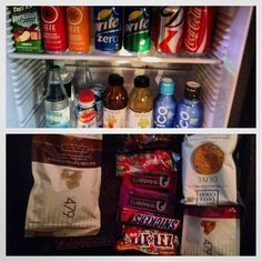 A very well stocked complimentary mini-bar (My hOtel: Rancho Valencia in San Diego, California)