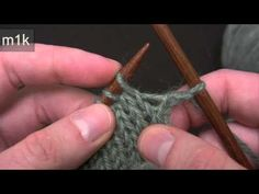 Knitting Help - Lifted Increases - YouTube