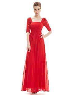 0c74ae9127a89c Sexy Fashion Vermilion Lace Square Neckline Long Prom Evening Dress  Bordeaux Jurk