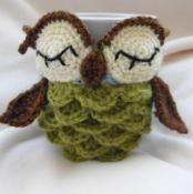 Owl mug cozy - via @Craftsy