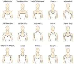 Dress || help with wedding dress neck lines - - there's so many.