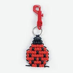 Pony Bead Ladybug Key Chain Craft Kit - OrientalTrading.com