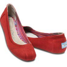 TOMS Red Canvas Ballet Flats... really want these for work!