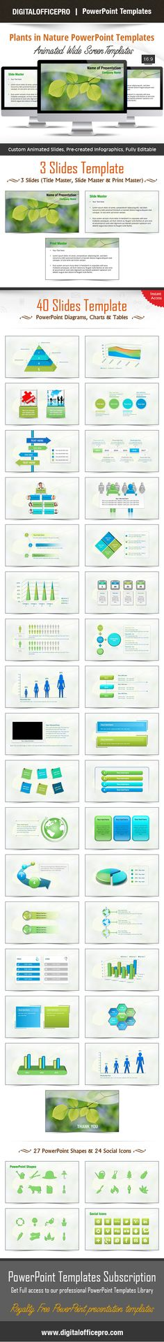 Free Money Shapes - PowerPoint Charts and Diagrams Pinterest - nature powerpoint template