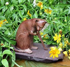 Achla Designs Coy Cat, Garden Animal Statue : Statues : Garden & Outdoor garden decor cat statues. #gifts #cat #gardens Garden Animal Statues, Garden Statues, Home Wall Art, Wall Art Decor, Cat Garden, Just Because Gifts, Cute Home Decor, Spa Gifts, Beautiful Interiors