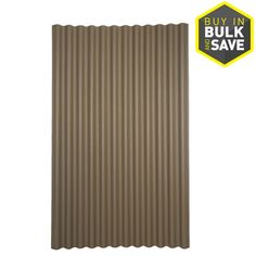 Ondura 79 In X 48 In Brown Corrugated Cellulose Asphalt