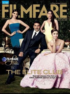 Filmfare, the magazine has always been known for being chic and stylish and when it comes to style Bollywood is no stranger to that. This is what our four stars in Bollywood, Akshay Kumar, Sonam …