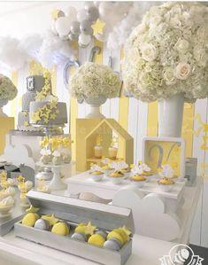 Diy Party Decorations, Birthday Decorations, Baby Shower Decorations, Baby Shower Parties, Baby Shower Themes, Shower Ideas, Baby Shower Yellow, Baby Boy Shower, Baby Shower Checklist