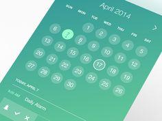 Calendar UI by Pierre Marais Calender Ui, Card Ui, Stamp Card, Ui Color, Ios, Web Ui Design, Mobile App Ui, User Experience Design, Ui Elements