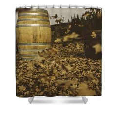 Fall In The Garden Shower Curtain by Cesare Bargiggia