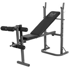 Gorilla Sports - Gyronetics E-Series Multi Incline Weight Bench with Leg Curl