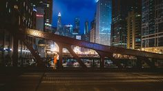 Downtown-Chicago-Night-ENgagement-Photos