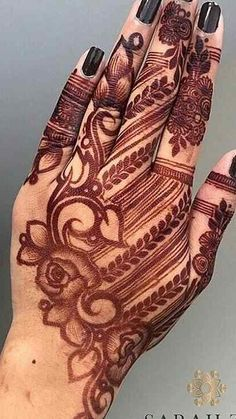 Pin For Trend Presented Awesome Arabic Mehandi Designs For Beautiful Girls - Mehandi Designs Images 2019 - 2020 (Latest Henna Designs Collection) Modern Henna Designs, Wedding Henna Designs, Mehndi Designs Feet, Latest Henna Designs, Mehndi Designs Book, Arabic Henna Designs, Indian Mehndi Designs, Mehndi Designs 2018, Mehndi Designs For Girls