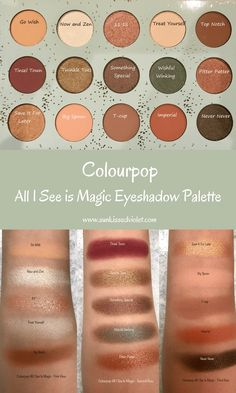 Colourpop All I see is Magic Eyeshadow Palette | Swatch and review | Cruelty Free Makeup - Sun Kissed Violet